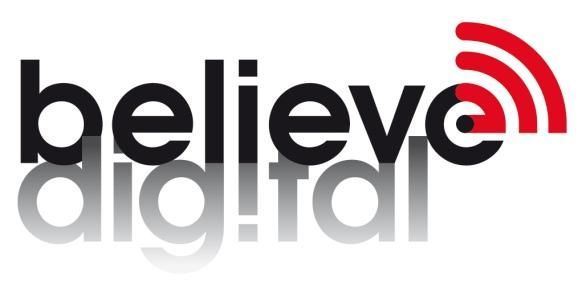 Logo Believe Digital blanc